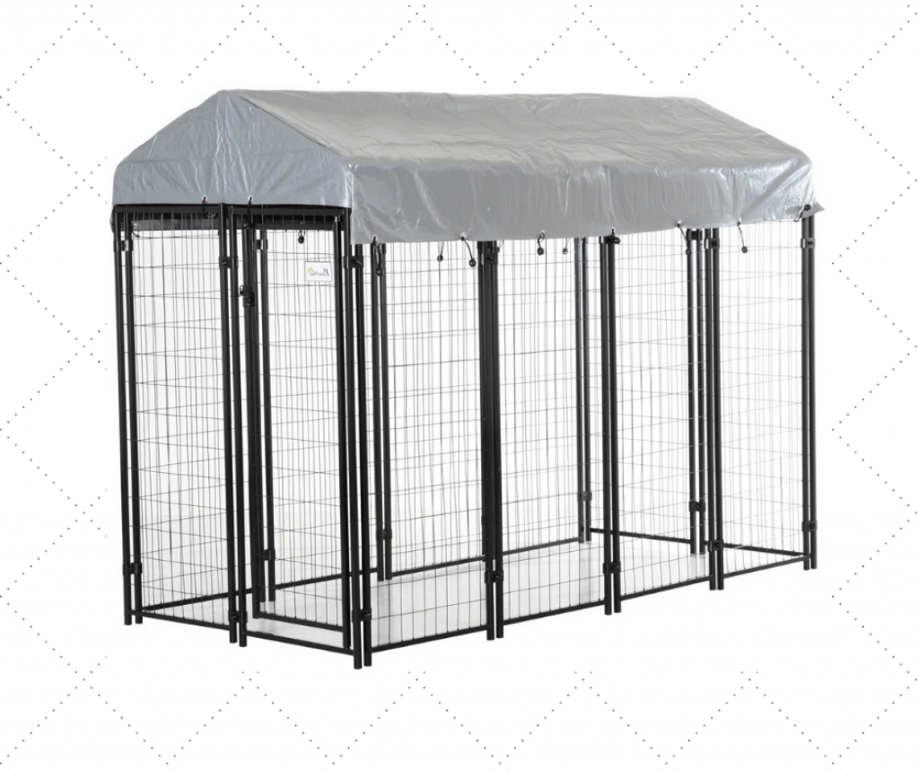 Covered Dog Kennel For Two Dogs
