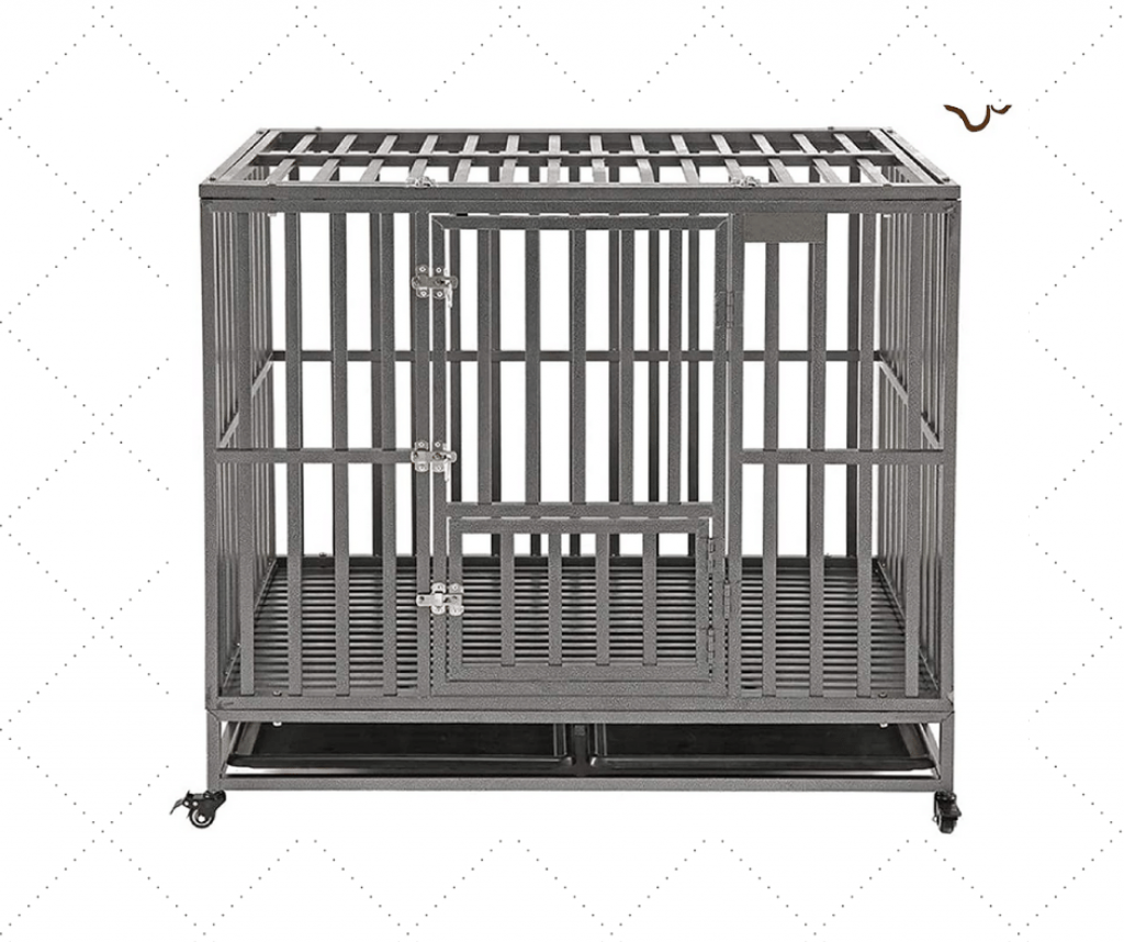 Portable Heavy Duty Dog Kennel With Two Doors