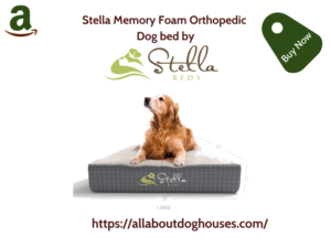 Stella Memory Foam Orthopedic Dog Bed 1